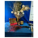 Beautiful Christmas Lot includes Vases, Candles,