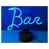 "Table Neon Bar Light measures 15"" x 12"" height"