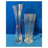 """12- 12"""" Rose Bud Vases 7 -9"""" Rectangular Vases"""