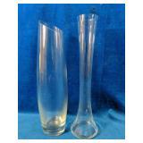 """12 - 12"""" Rose Bud Vases 12 - 12"""" Glass Vases"""