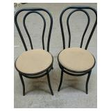 """Two Chairs measure 15"""" diameter & 33"""" height"""