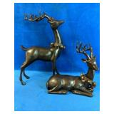 """Two Decorative Deer measure from 11"""" - 18"""" height"""