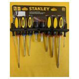 NEW Stanley Screwdriver Set and Storage Rack