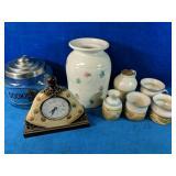 Cookie Jar, Decorative Vase, a Handmade Pottery
