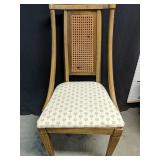 Vintage dining chair with wicker inlay back