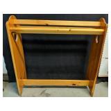 "Beautiful wooden quilt rack 31"" x 10"" x 31""H"