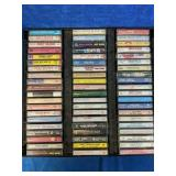 60 country music cassettes with tray