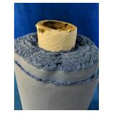 Approx 50 meters of blue cotton fabric, 142cm
