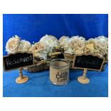 Wired and burlap baskets with 9 beautiful burlap