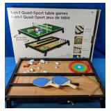 4 - in - 1 Quad Sports Table Games