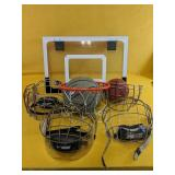 Over-the-door basketball net, with two