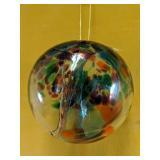 """Stunning blown glass 5""""D decor ball"""