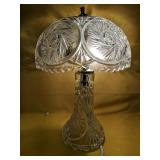 """Crystal table lamp 12.5""""H"""