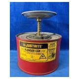"""""""JUSTRITE"""" Plunger Can for Flammable liquid 7""""D x"""