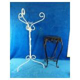 """Wrought Iron Plant Stands White one measures 30"""""""