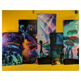 5pc Beautiful canvas art, all display together to