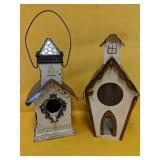 "Two beautiful bird houses 10""-12"""