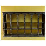 """Vintage hanging display shelf 36"""" x 5"""" x 21.5""""H"""
