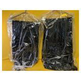 "8 black tablecloths 90"" seams"