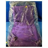 "4 Large purple tablecloths 108"""