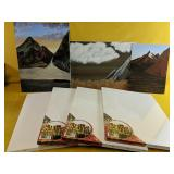 """Assorted canvas art, with 4 NEW 12"""" x 16"""" Canvas"""