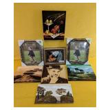 """Assorted canvas art, with NEW picture frames 8"""" x"""