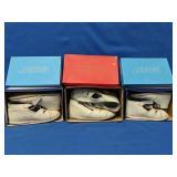 "Three pairs of vintage ""Savage"" baby shoes"