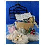 Large variety of party supplies, including