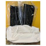 7 Ivory Color Chair covers with two black