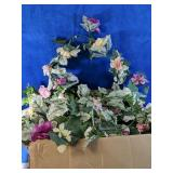 Lovely artificial foliage, swags, strings of