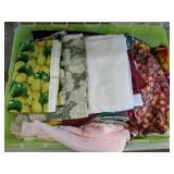 Large Storage Tote filled with fabric