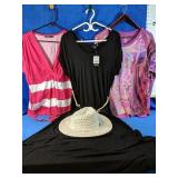 Ladies NEW XL Dress with belt and hat and two XL