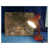 Adjustable desk lamp with beautiful duck framed