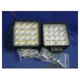 2 New LED ATV lights with mounting brackets