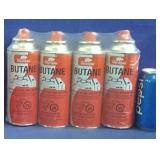 New 4 pack butane canisters