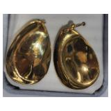 1L- Sterling silver gold plated earrings $120