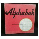 ALPHABOK vintage board game fir crossword fans