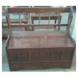 """Wooden storage bench 36"""" x 17"""" x 32"""""""