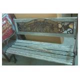 """Garden bench needs tlc  50"""" x 22"""" x 31"""""""
