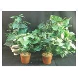 4 faux plants