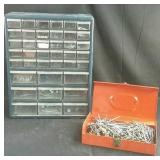 "Nuts & bolts caddy  with contents 15"" x 6"" x 18"""