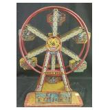 "Antique / vintage metal Carousel toy18"" h"