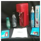 SodaStream beverage maker with CO2 canister