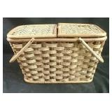 """Wicker picnic basket  18"""" x 12"""" x 10"""""""