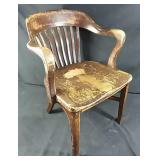 Solid wood chair 32 inches tall