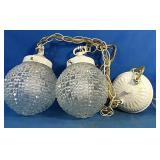 Luminaire hanging lights, 2 ft chain length