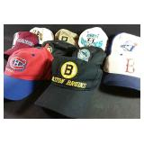 Assorted sports hats