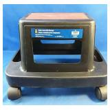 Roller seat with storage, weight capacity 330