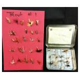 40 Trout Flies & Tin Case