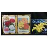 Three New Floral Themed Metal Signs